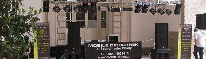 Mobile Disco, DJ Service Tirol, DJ Service Vorarlberg