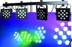 LED KLS – 1001 – DMX-LED-Scheinwerferset mit 48 Tricolor-LEDs