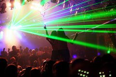 Discothek mit Lasershow